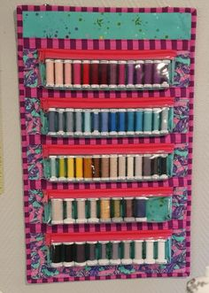 #BuyFabric Thread Storage, Sewing Room Storage, Sewing Room Organization, Sewing Pattern Storage, Sewing Hacks, Sewing Crafts, Sewing Projects, Ideas Para Organizar, Fabric Markers