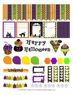 Andrea Nicole: Free Printable Halloween Planner Page Decor