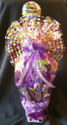 Chocolate Candy Bar Bouquet for any occasion (This was a Get Well gift).