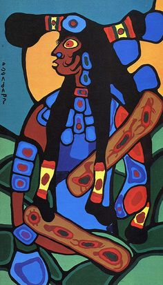 Norval Morrisseau South American Art, Native American Fashion, Canadian Artists, First Nations, First World, Painting & Drawing, Nativity, Cool Art, Folk