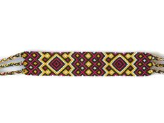 wide tribal friendship bracelet unisex macrame wrist cuff