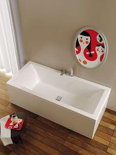 Bagno classico con vasca in marmo bianco | Vasche in pietra | Pinterest