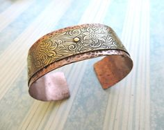 Make a hammered and riveted cuff bracelet with this tutorial.
