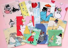 Characters: Little My, Snufkin, Moomintroll, Moomin family, Snorkmaiden etc Moomin, Little My, Vintage Fabrics, Fabric Scraps, One Pic, Different Fabrics, Cotton Fabric, Colours, In This Moment
