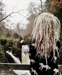Blonde and messy. Dreadlock