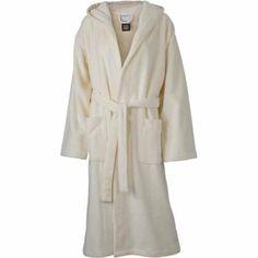 Peignoir à capuche polyester et coton - MB434 - beige crème Cream Cream, Beige, Hoods, Duster Coat, Dressing, Unisex, Polyester, Bath, Size Chart
