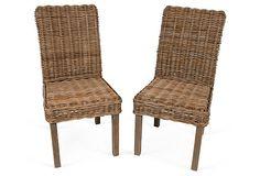 Wicker Side Chairs, Pair on OneKingsLane.com