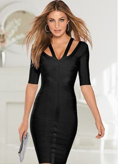 Plus Size 2018 Women Winter Vintage Bodycon Casual Dress Zippers Fashion Sexy Midi Black Dress To Ensure A Like-New Appearance Indefinably Women's Clothing