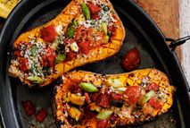 Stuffed butternut squash gratin – Recipes – Slimming World