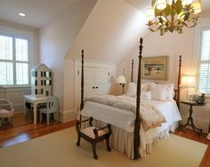 Always remember to put a door on that dead wall space by a dormer window providing more storage.