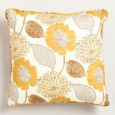 Emma Throw Pillow | World Market--living room accent pillow