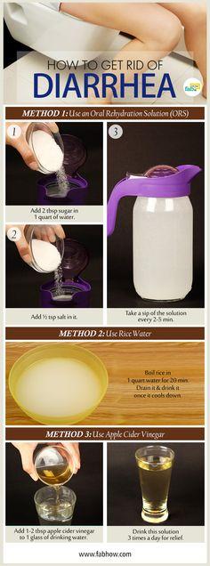 get rid of diarrhea