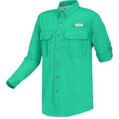 Budweiser Outdoors Long Sleeve Microfiber UPF Fishing Shirt