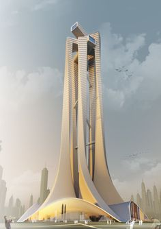 """The project """"PERI5COPE"""" designed as an """"Architecture School Tower"""" by Niculae Grama, Valentin Ionascu, Mihai Chisarau and Marius Pandele from Romania has been chosen as the 2nd Prize winner for the [DUBAI109] competition held and organized by [ AC-CA ] (Architectural Competition Concours d'Architecture). Courtesy of Niculae Grama, Valentin Ionascu, Mihai Chisarau and Marius Pandele The …"""