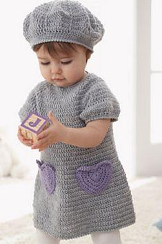 Crochet Sweet Little Dress And Matching Beret Set Tutorial
