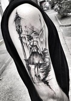 Som tatuering skulle jag inte vilja ha den, men det är en snygg skiss.