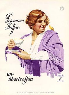 Original 1926 Ludwig Hohlwein Friemann Kaffee Print by HodesH