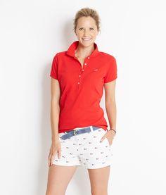 Women's Polo Shirts: Shoreline Short-Sleeve Polo for Women - Vineyard Vines