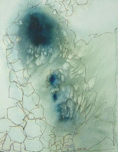 Contemporary Art by Elisa Nadzieja : Watercolor and ink on paper : Drawing/Work on Paper