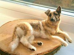 needle felted German Shepherd - this is amazing