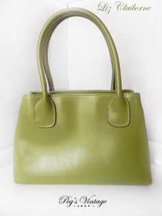 Check out this item in my Etsy shop https://www.etsy.com/ca/listing/514035743/vintage-liz-claiborne-purse-green-faux