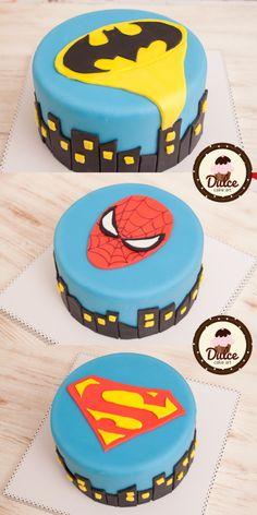 Easy superheroes cake 3 in 1