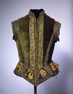 Extant Doublet - 1580 Met Museum Clothes this old have rarely survived. This (men's) doublet is in wonderful shape for it's age.