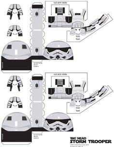 Chemical9: Big Head Storm Trooper paper toy with printable template