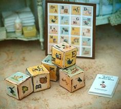 how to: vintage baby blocks (with printables)
