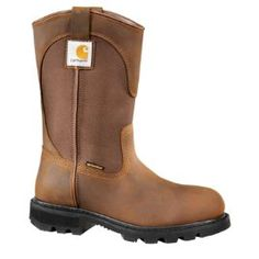 Carhartt Women's BBO-Bison Brown Oil Tan 10-Inch Bison Brown Safety Toe Wellington - front