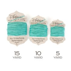 Teal - Caribbean Blue - Aqua Cotton Bakers Twine 240 yards 4 ply made in USA