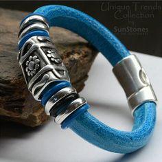 Regaliz Licorice Leather Bracelet by SunStones on Etsy, $36.00