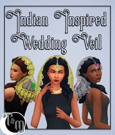 Indian Inspired Wedding Veil - by teanmoon Comes in 5 bead/gem colors, in silver and gold edging 10 colors total Mesh and Textures extracted from mesh Under Hats Teen - Elder Base Game. Maxis, Jasmine Hair, Bridal Makeup Looks, Wedding Makeup, Wedding Hair, Sims 4 Cc Packs, Play Sims, Sims 4 Cc Finds, Sims 4 Clothing