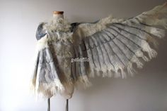 Winged shawl Wings scarf Felted scarf costume wings by galafilc