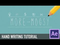 [After Effects] Handwriting Effect TUTORIAL - YouTube