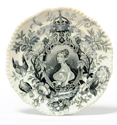 Tennants Auctioneers: A Staffordshire Pottery Queen Victoria Coronation Commemorative Plate