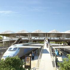 """Marc Mimram designs """"delicate pleated roof"""" for Montpellier's new TGV station"""