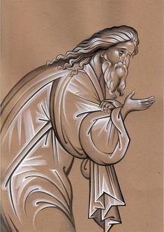 Bilder på veggen til felleskapet Byzantine Icons, Byzantine Art, Religious Icons, Religious Art, Paint Icon, Russian Icons, Best Icons, Painting Process, Orthodox Icons