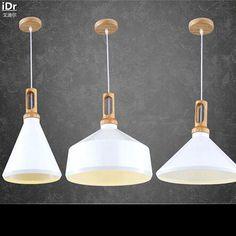 Nordic spun aluminum cover restaurant lights living room lights Wood Cafe Pendant Lights  wwy-0047 #Affiliate