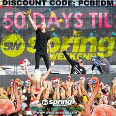Less than 50 days!!  Spring Weekend 2016 Panama City Beach,Florida The largest 2 day collegiate EDM festival hits the beach, and your invited! Enter discount code: PCBEDM for even more $avings! Grab your ticket to the beach NOW! LINEUP DROPS IN MID MARCH! #EDM #FESTIVAL #RAVE #SORORITY #FRATERNITY #GREEK #COLLEGE #SW2016 #SPRINGWEEKEND #SPRINGWEEKEND16 #SPRINGBREAK #BEACH #PANAMACITYBEACH #FLORIDA #RAVEFESTIVAL #EDMFESTIVAL