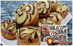 Fantastický recept na veľmi jemné a vláčne muffiny, ktoré sú doslova ako z bavlnky. Keď ich ozdobíte pomocou kakaového cesta, budú aj krásnou ozdobou slávnostného stola. Z tohoto cesta pripravíte aj vynikajúcu piškótu. Cooking, Breakfast, Cupcakes, Basket, Cucina, Breakfast Cafe, Cupcake, Kochen, Cuisine