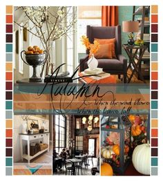 """Autumn Inside"" by suzanne228 ❤ liked on Polyvore featuring interior, interiors, interior design, home, home decor, interior decorating and Coffee Shop"