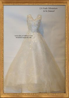Frame Your Wedding Dress In Miniature By Belafabrica 1/6 Scale barbie Doll scale fashion doll scale