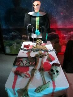 Alien examination. Spirit Halloween has great props that enhance any Halloween decor!