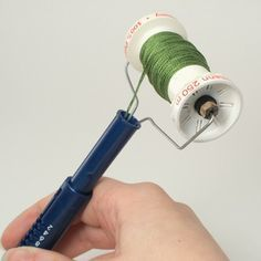 Embroidery Stitches Tutorial Although not technically a tutorial, this DIY thread spooler for punch needle embroidery is a great time saver. Tambour Embroidery, Embroidery Needles, Embroidery Patterns, Hand Embroidery, Modern Embroidery, Hook Punch, Punch Needle Patterns, Craft Punches, Brazilian Embroidery