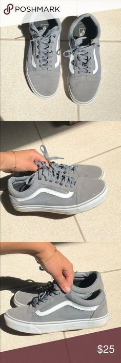 24b4626ca090 Women s grey vans Worn Vans Shoes Sneakers Grey Vans