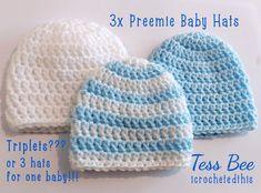Premature Baby Hats 3 NICU Hats Triplets Hats Tiny Baby   Etsy Preemie Babies, Premature Baby, Twin Babies, Baby Boy Beanies, Baby Hats, Second Baby, First Baby, Newborn Baby Gifts, Nicu