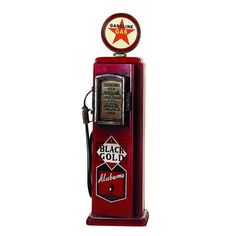 Woodland Imports Gas Pump Multimedia Cabinet