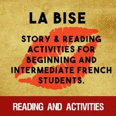 La Bise - a story for French learners - Bryan paid attention in class when the teacher talked about La Bise...or did he?  Find out what happens when he goes to France!  A good sub plan.