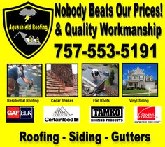 My ad I created.   Aquashield Roofing